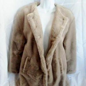 ZARA TRF COLLECTION Faux FUR Vegan jacket coat